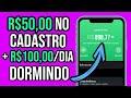 VAZOU RECEBA R$50,00 NO CADASTRO + GANHE DINHEIRO DORMINDO NOVO SITE