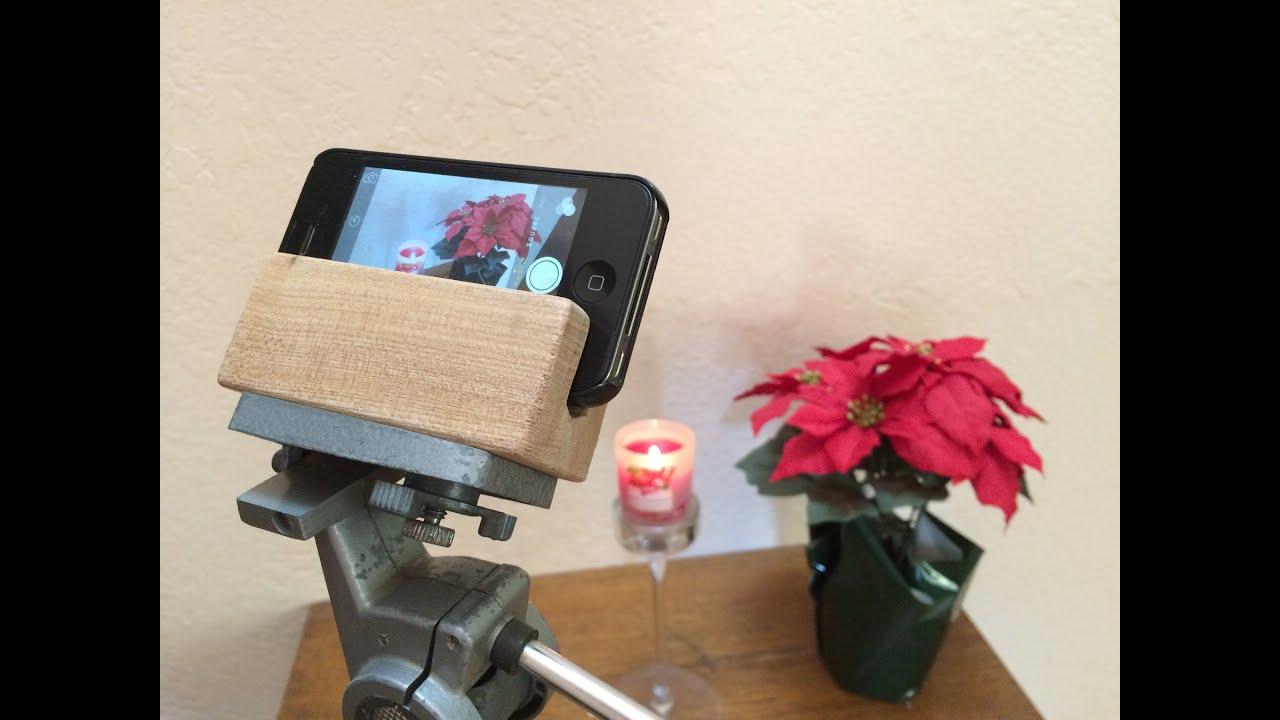 DIY - Free iPhone Tripod Mount - YouTube