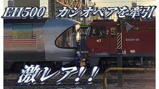 JRグループ発足30周年を記念して、JR貨物の機関車EH500がJR東日本...