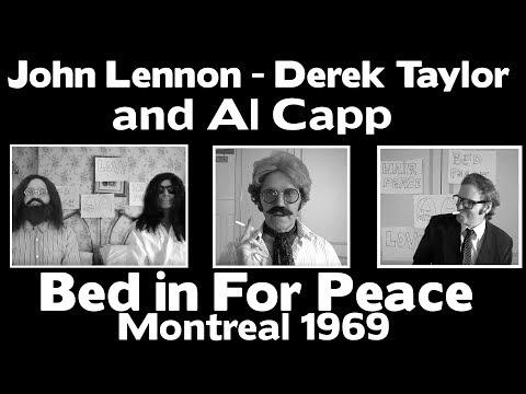 John Lennon  Derek Taylor and Al Capp - Bed in For Peace