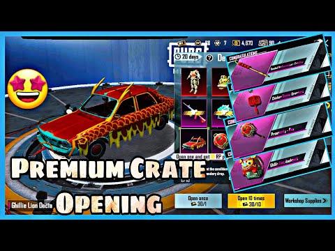 New Premium Create Opening Pubg Mobile || Latest Premium Crate Opening
