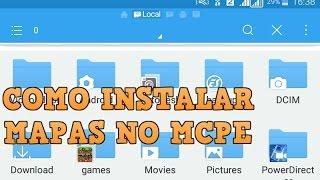 COMO INSTALAR MAPAS NO MINECRAFT PE 1.1
