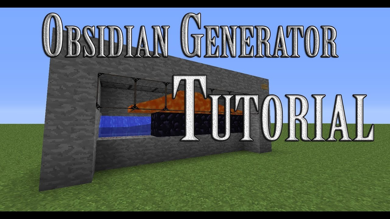 Tutorial How To Make An Obsidian Generator In Minecraft Youtube