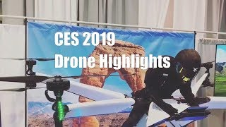 CES 2019 - Highlights of the drones shown including DESERET manned and Bell Nexus Taxi drones