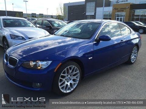 pre owned blue 2007 bmw 3 series 2dr cpe 328xi awd - sherwood park