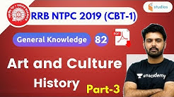 5:00 PM - RRB NTPC 2019 | GK by Aman Sir | Art and Culture History | Part-3