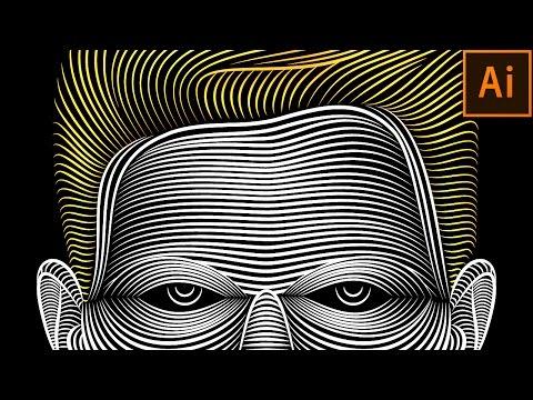 Illustrator Line Art Tutorial | Face Line Art