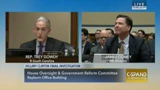 Rep. Gowdy Questions Director Comey - Part Two