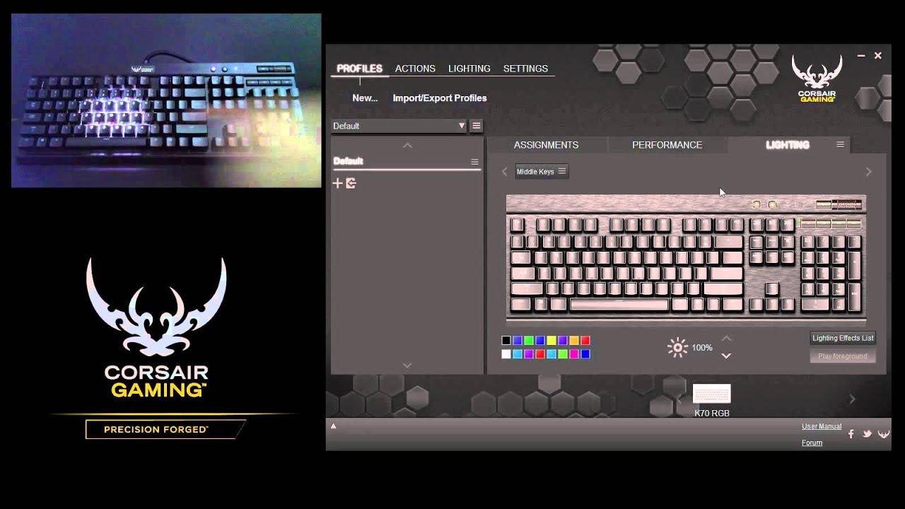 Tutorial: Create Ripple Effects on the K65 RGB, K70 RGB, and K95 RGB  Keyboards
