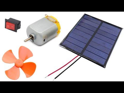 Solar Fan - Solar plate, Switch, Motor, Fan connection