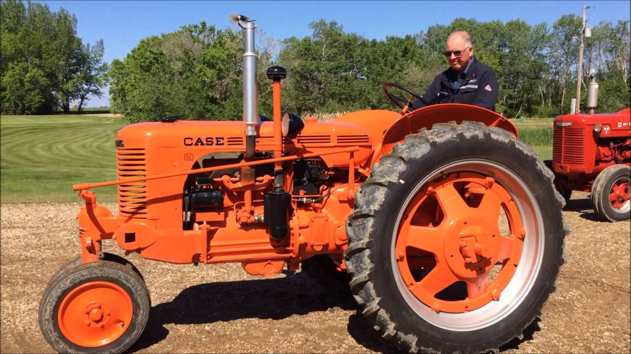 1947 Case Tractor : Sc case tractor youtube