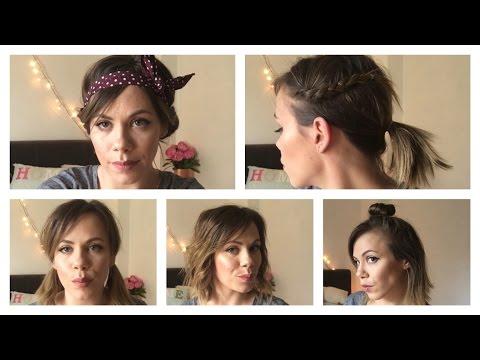 5 Quick, Easy Hairstyles For Short Hair - HappyAsLari