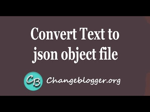 Convert text to json object file