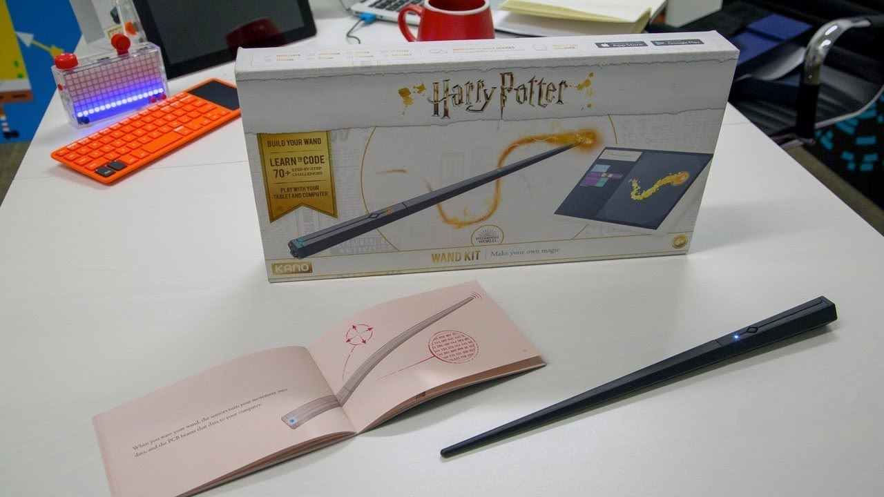 96b0ea861 The next Kano coding kit is a Harry Potter wand that allows you to code and perform  iconic spells.