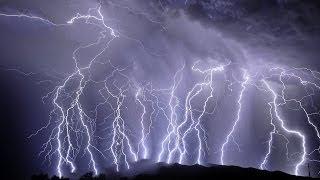 Lightning over Adelaide, Australia