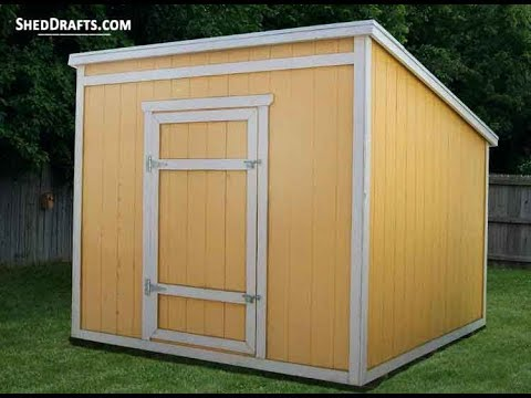 8×8 Lean To Storage Shed Plans Blueprints For Assembling A Sturdy DIY Structure
