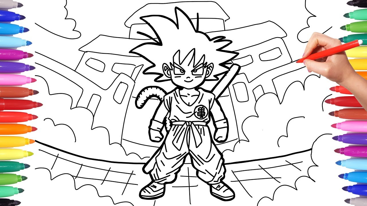 Drn Ball Coloring Pages Goku Coloring Pages Drn Ball Z Kai Foto ... | 720x1280