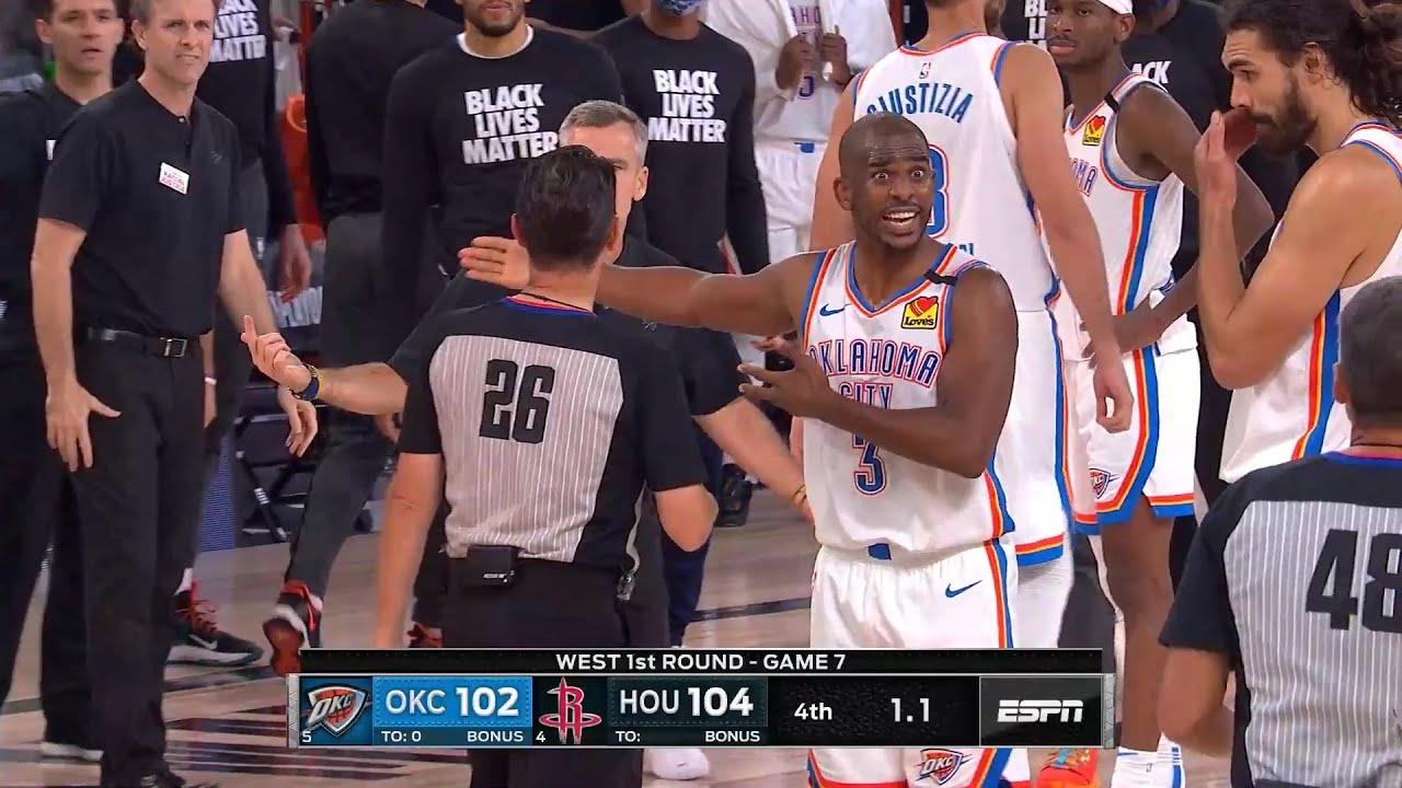"Chris Paul: ""CHECK IT! CHECK IT. Man that's bulls**t"" Game 7 | Rockets vs Thunder"