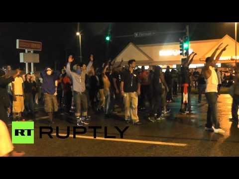 Ferguson erupts again: Tear gas, looting as protesters, cops clash