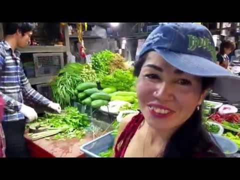 North Pattaya fish and fresh fruit market Thailand