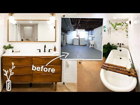 My Dream Spa Basement Bathroom Makeover Making Home Ep6 Youtube