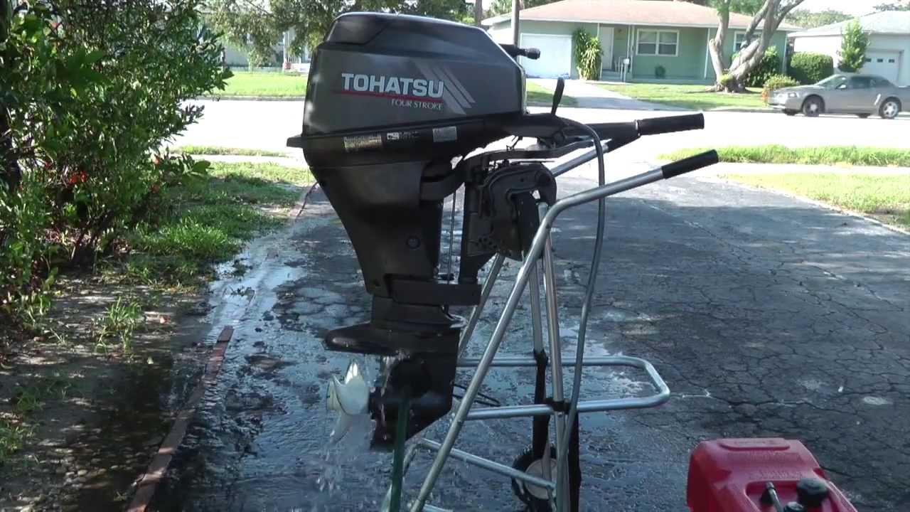 2003 Tohatsu 99hp Shortshaft 4 Stroke Tiller Outboard Motor Youtube Nissan 3 0 Hp Wiring Diagram