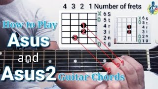 How to Play Asus and Asus2 guitar chords  Suspended Chords