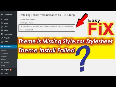 The Theme Is Missing the Style css Stylesheet- FIX for