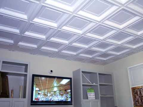Can i afford a coffered ceiling youtube for Foam coffered ceiling