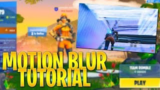 How To Get MOTION BLUR on IOS/Android for FREE! | Fortnite Mobile Tutorial
