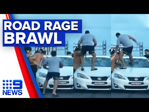 Car surrounded and damaged in road rage attack | 9 News Australia thumbnail