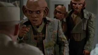 DS9 How Ferengi greet humans (Little Green Men)