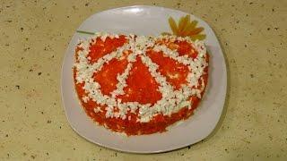 """Салат """"Апельсиновая долька"""" / Salad with orange slices"""