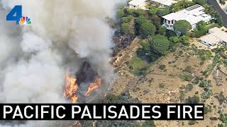 Pacific Palisades Fire Threatens Homes | NBCLA