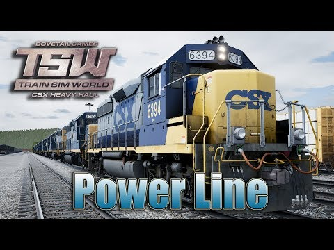 Train Sim World: CSX Heavy Haul Scenarios 11: Power Line (CSX GP40-2)