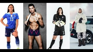 Ronaldo, ibra, Hope solo, Alex morgan, Who is the best actor | Football commercial compilations