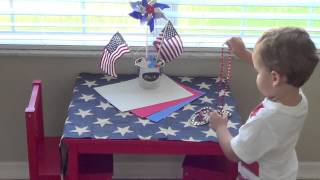 Red, White, and Blue Toddler Tablescape (Patriotic Playdate) Thumbnail