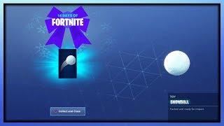 NEW FORTNITE SNOWBALL TOY FREE REWARD GAMEPLAY (14 Days Free Fortnite Rewards)