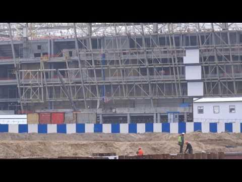 Кипит работа: строительство стадиона в Калининграде