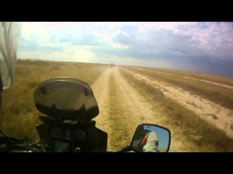 Suzuki DL 650 V-Strom off-road ride on Arabat spit, part 5