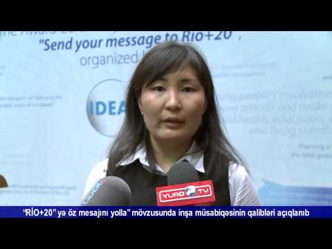 Winners of Send your message to Rio+20 Essay Competition have been awarded