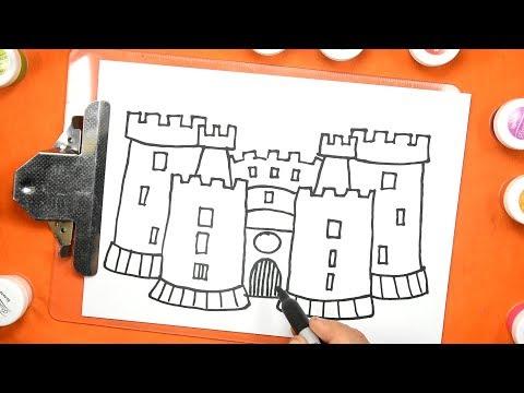 Simple Easy Drawing How To Draw Castle рисуем легко Как рисовать замок