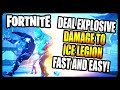 Deal Damage With Explosive Weapons To The Ice Legion FASTEST And EASIEST Way Fortnite Season 7 mp3