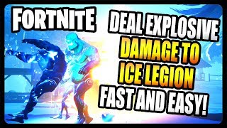 """""""Deal damage with Explosive Weapons to the Ice Legion"""" FASTEST and EASIEST Way! (Fortnite Season 7)"""