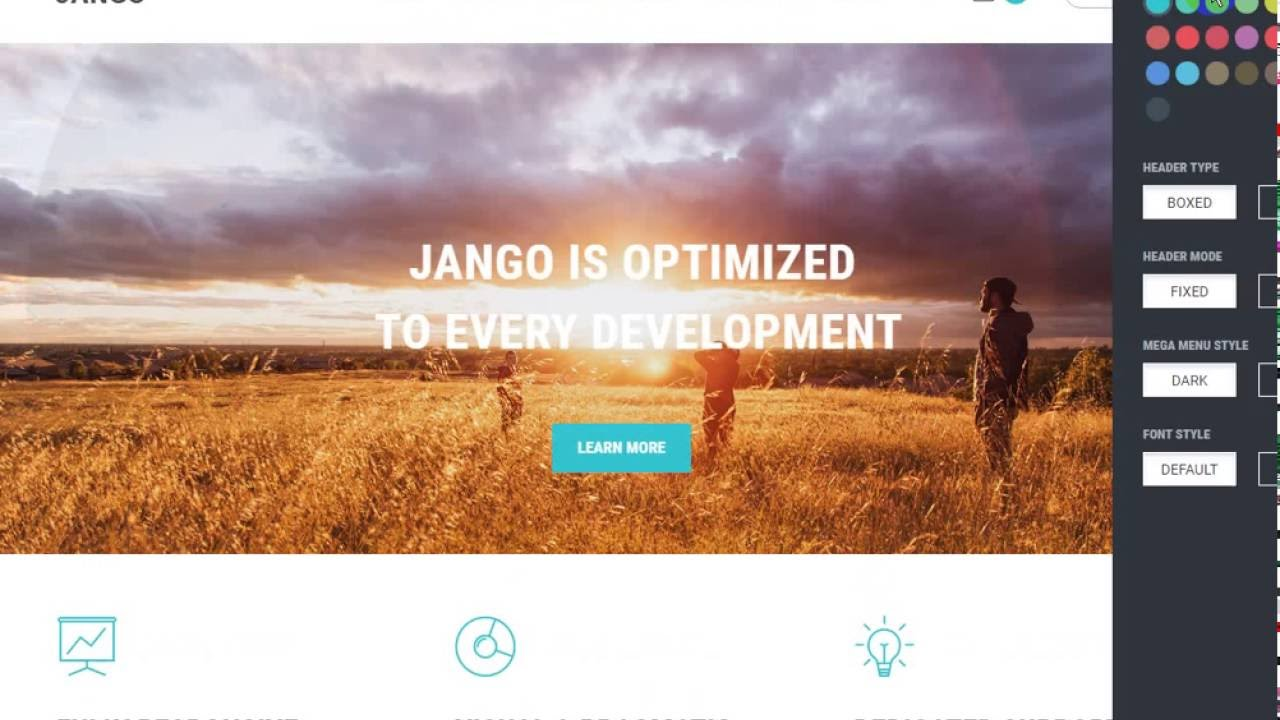 Jango Highly Flexible Component Based Drupal Theme