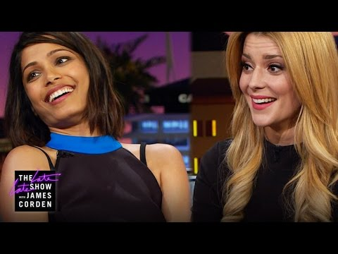Freida Pinto and Grace Helbig Talk First Jobs