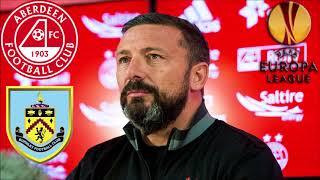 Aberdeen draw burnley in europa league!!! scotland vs england