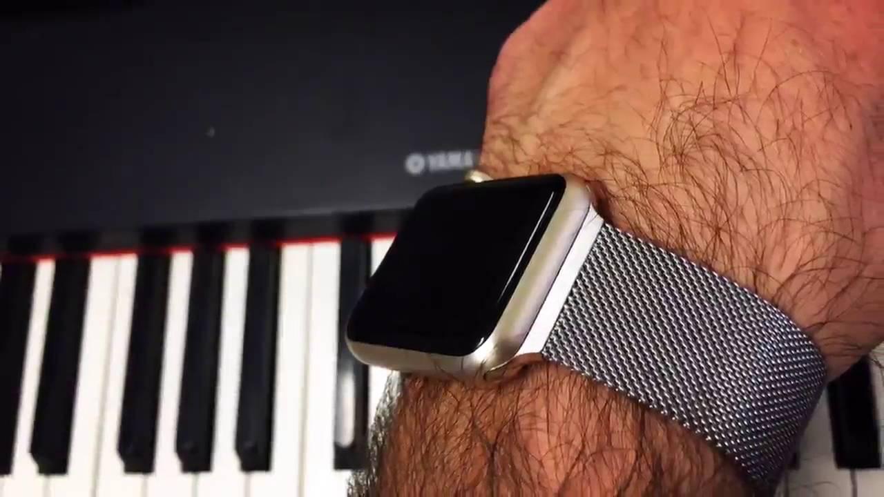 meilleur site web 4dd46 84180 Apple Watch Bracelet OKCS® en Acier inoxydable Milanais, Le bracelet  milanais mais carrément moins c