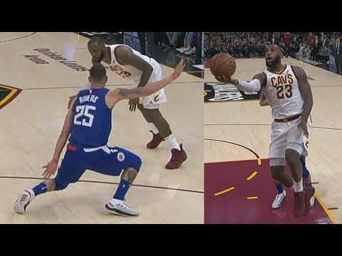LeBron James 39 Points! Got Austin Rivers Leaning! pers vs Cavs 201718 Season