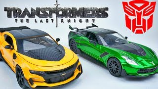 TRANSFORMERS THE LAST KNIGHT DIECAST BUMBLEBEE CAMARO CROSSHAIRS CORVETTE STINGRAY COLLECTIBLE TOYS